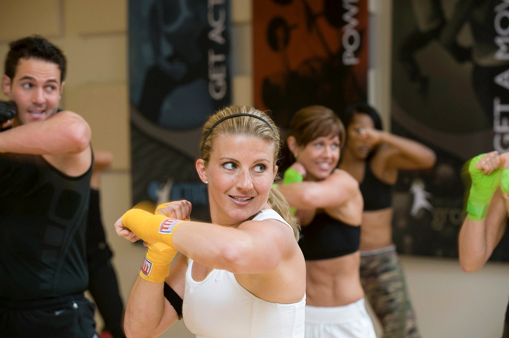 Group fight is an challenging and explosive cardio experience.