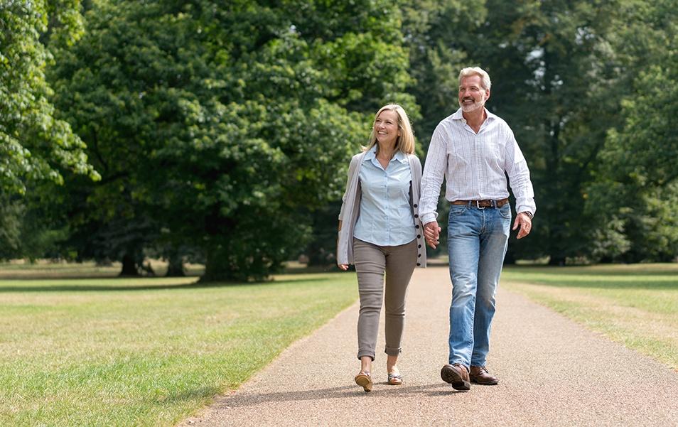 Walking to reduce stress