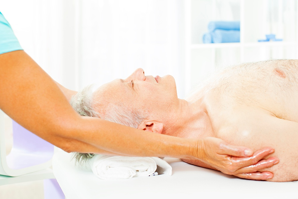 Many benefits of massage for seniors. Cornerstone Club is offering a senior massage special.