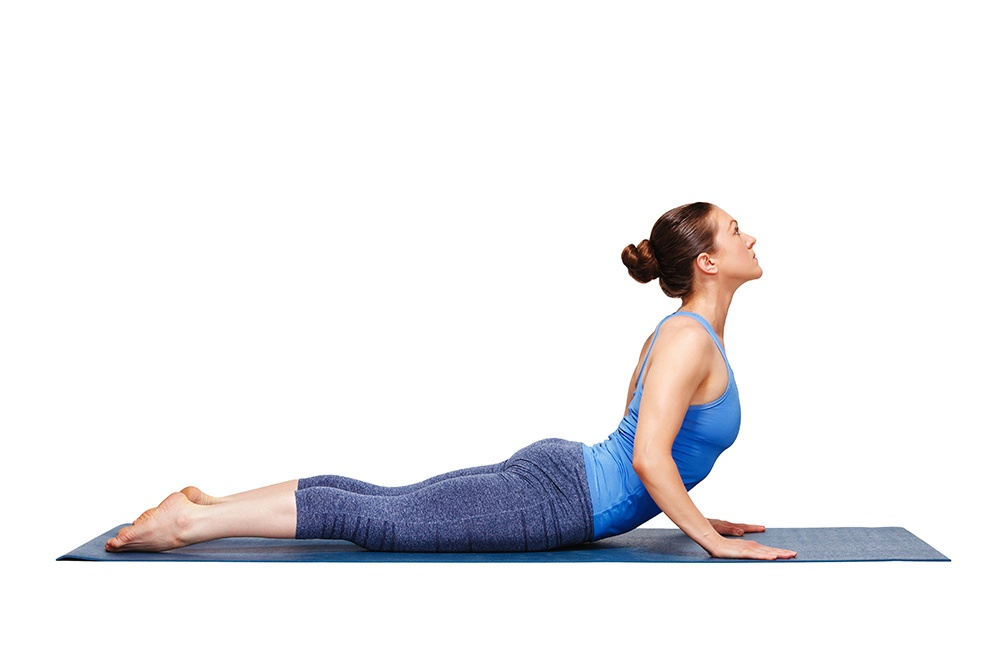 The cobra pose will help reduce stiffness.
