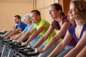 Indoor Cycling Group Fitness Class