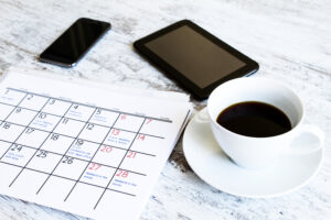 Schedule your workouts on your calendar to help you stay motivated to workout after work.